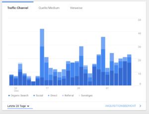 Organische Suche und SEO - Google Analytics im Blick