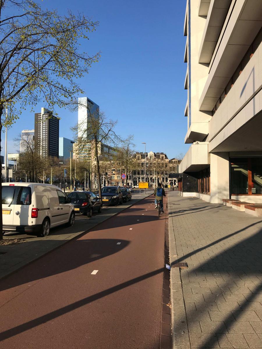 Platz satt in Rotterdam. die Autostadt wandelt sich langsam