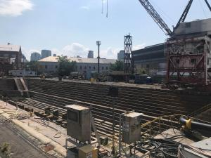 Das große Trockendock im ehemaligen Militärhafen ist 176 Jahre alt. Und funktioniert immer noch.
