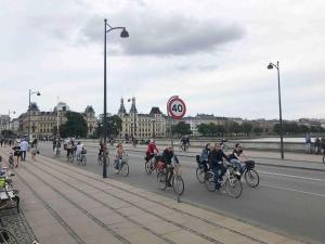 Dronning Louise Brücke: hier fahren jeden Tag tausende Radfahrer in beide Richtungen